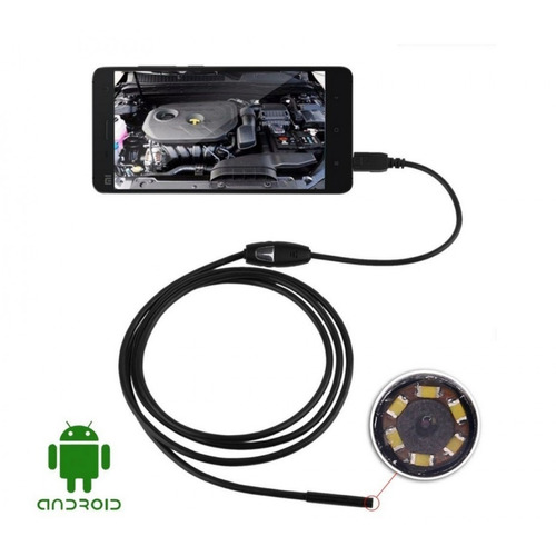 24x Câmera Inspeção 6 Led Pc Android Usb 5m