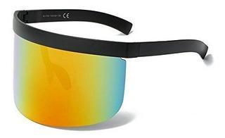 Mincl Super Grande Futurista Oversize Shield Visor Gafas De