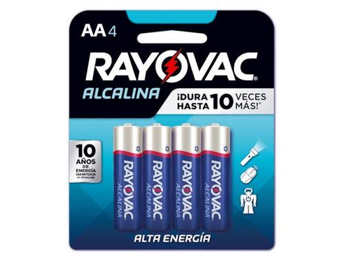 Imagen 1 de 9 de Pack X12 Pilas Doble Aa Alcalina Rayovac Blister 4 Unidades