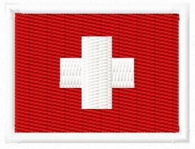 Patch Bordado Mini Bandeira 40x30 Suíça