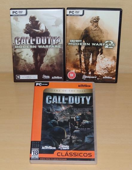Call Of Duty + Cod 4 Modern Warfare + Modern Warfare 2 - Pc