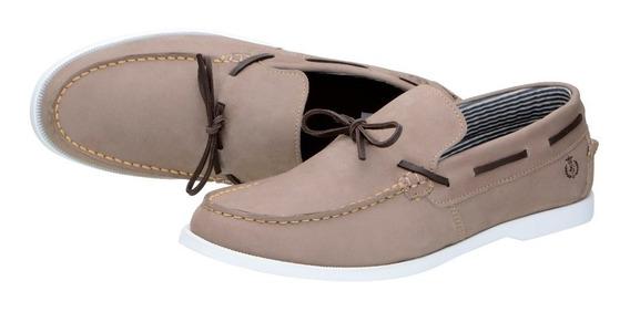 Mocassim Gigante Tei Couro Legítimo Shoes Grand Frete Grátis