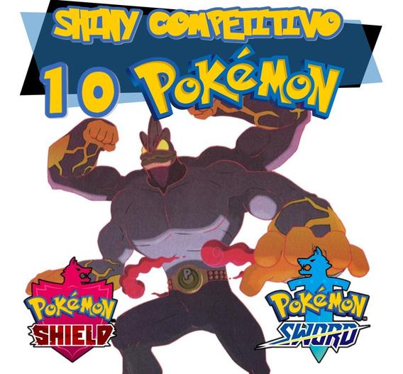 10 Pokemon Shiny Sword Shield Espada Escudo 6iv Competitivos