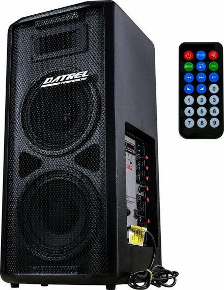Caixa De Som Ativa 8pol Datrel Prof Mp3 Bluetooth Controle
