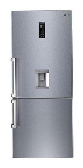 Heladera inverter no frost LG GC-F559BLDZ silver 441L