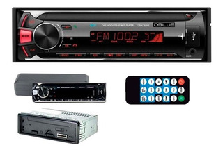 Radio De Auto Con Bluetooth Usb Mp3 Sd Aux Panel Desmontable