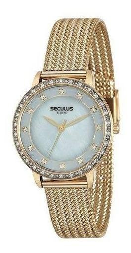 Relógio De Pulso Feminino Seculus Cód 13021lpsvds5