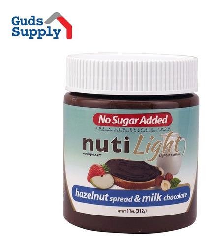 Imagen 1 de 5 de Nutiligth Chocolate Untable De Leche Con Avellanas Caja X 6