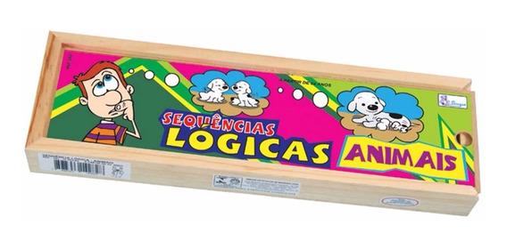 Jogo Sequencia Logica Animais Em Mdf