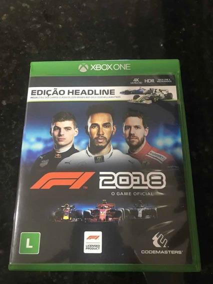 Jogo Xbox One F1 2018 Original Mídia Física