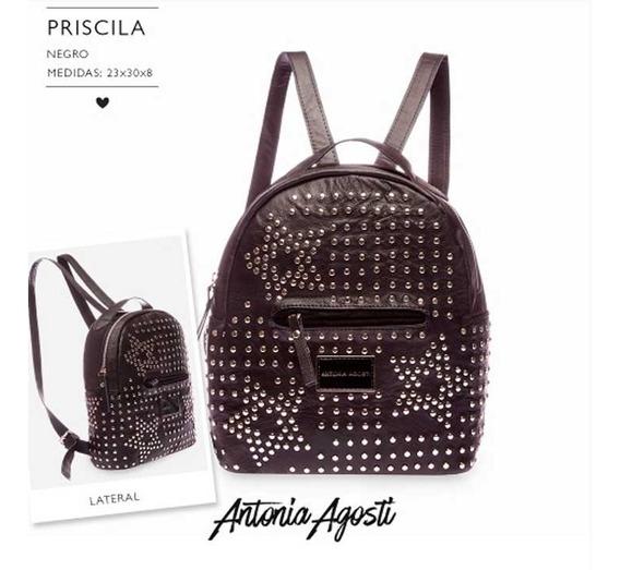 Mochila Priscila De Antonia Agosti 100% Cuero Envio Gratis!!