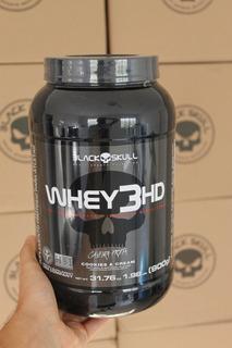Whey 3hd Black Skull 900g Varios Sabores Validade 2021 - Garanta Mais Proteínas Na Sua Dieta