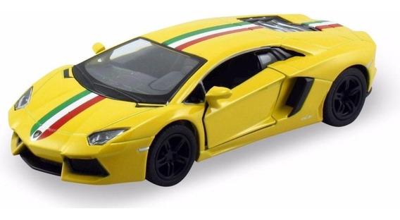 Lamborghini Aventador Lp 700-4 Escala 1:38 Kinsmart Amarillo