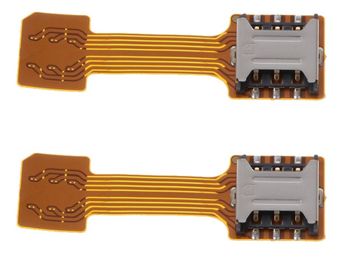 Imagen 1 de 5 de 2 Piezas Extensor Dual Sim Tarjeta Compatible Con Samsung