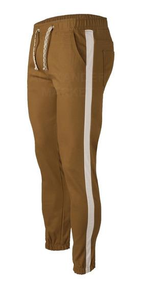 Pantalon Jogger Gabardina Elastizada Cintura Puño Elastico