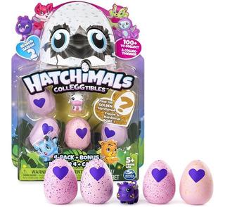 Hatchimals Pack 4 Huevos + Sorpresa Original Spin Master
