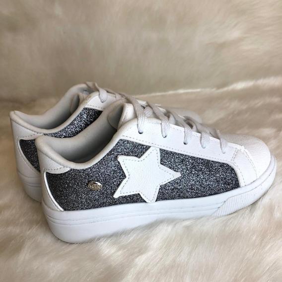 Sapatenis Estrela Com Glitter Menina Klin - 16625
