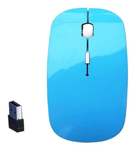 Mouse Gamer Sem Fio Recarregável Led Rgb 1600 Dpi