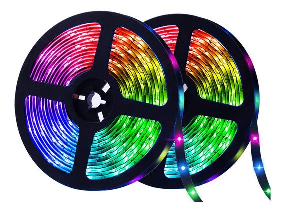 Tira Led Rgb Bluetooth Strip Light Usb 10m 600 Led Glückluz