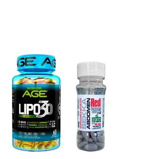 Kit Emagrecedor Sekka Abdomen+ Lipo 3d Nutrilatina 60caps