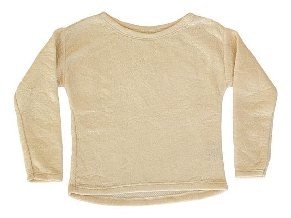 Sweater De Corderito Con Foil Metalizado Curva Completa!