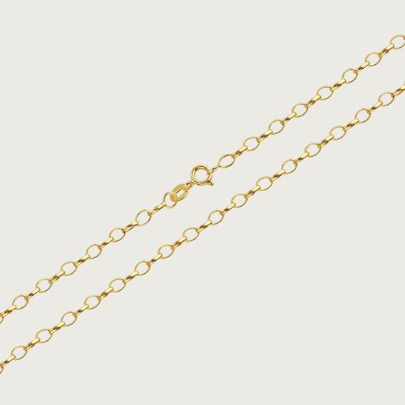 Cordão Em Ouro 18k Com 45cm - 2,2gr