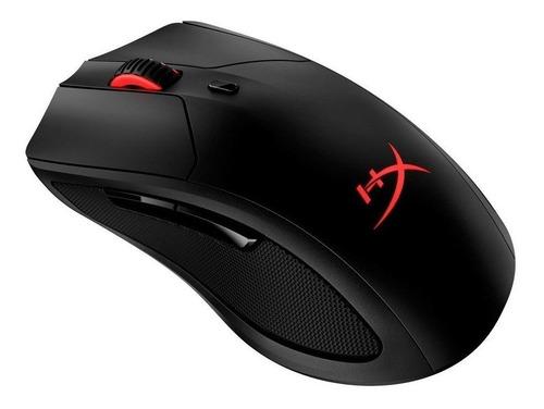 Imagen 1 de 2 de Mouse de juego inalámbrico recargable HyperX  Pulsefire Dart negro