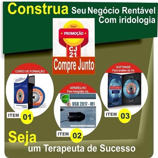 Compre Junto: Aparelho Usb M1 + Software + Curso Iridologia