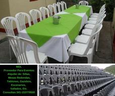 Alquiler De Sillas, Tablones, Etc, En Rosario
