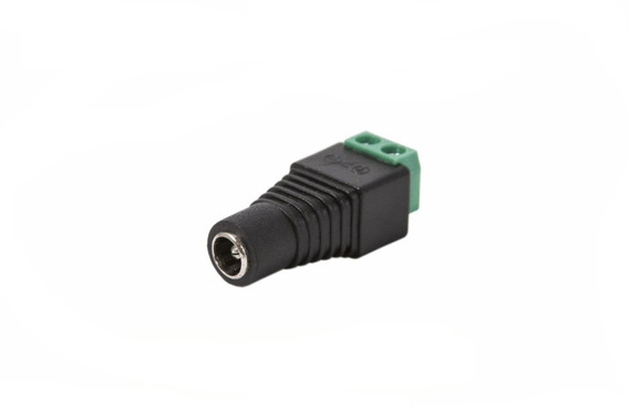 Ficha Plug Hembra 5.5 X 2.1mm Bornera Led Camaras Cctv X10