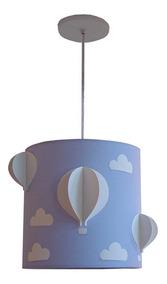 Lustre Luminária Balões Com Nuvens Quarto Infantil