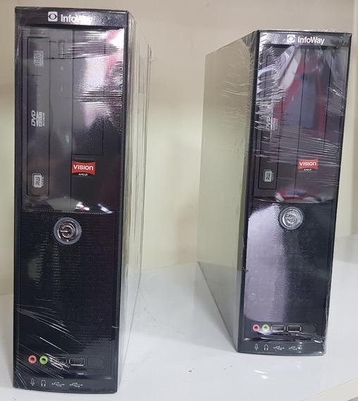 Desktop Itautec Infoway Z550 Sm3330 4gb 320gb Win7 Ou W10