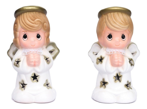 16 Centro D Mesa Bautizo Angel Ceramica Original Baby Shower