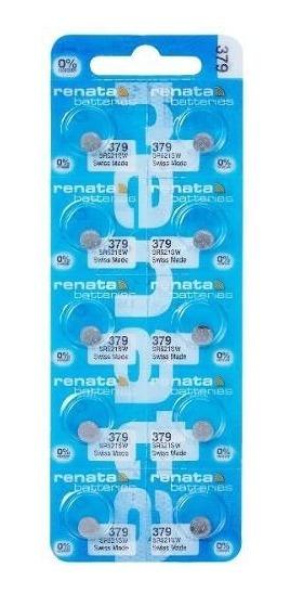 10 Pilhas Baterias 379, Relógio 1.55v Renata Sr521s Original