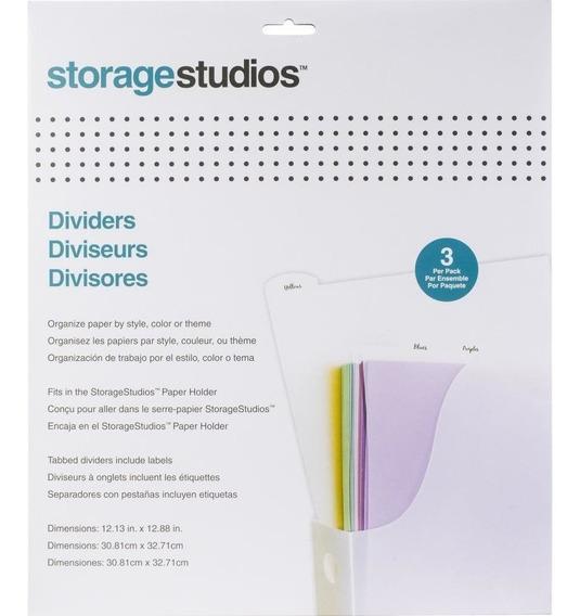 Set 3 Div. Plásticos P/hojas De Papel Storage Studios
