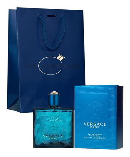 Perfume Locion Versace Eros 100ml Impor - mL a $800