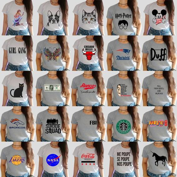 Kit 25 T-shirts Blusas Feminina Roupas Atacado Revenda!