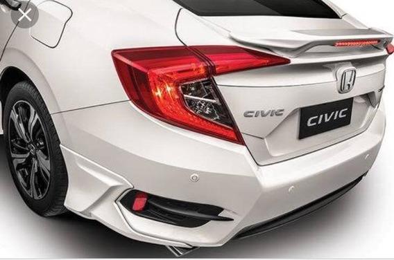 Aerofólio Esportivo Honda New Civic 2016 2017 2018 Preto