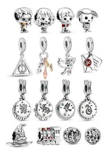 Charm Tipo Pandora Hogwarts Colección Harry Potter (pz) - $ 499.95