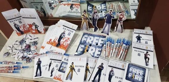 Free Fire Souvenir Free Fire Bolsa + Anotador + Lapiz X 30