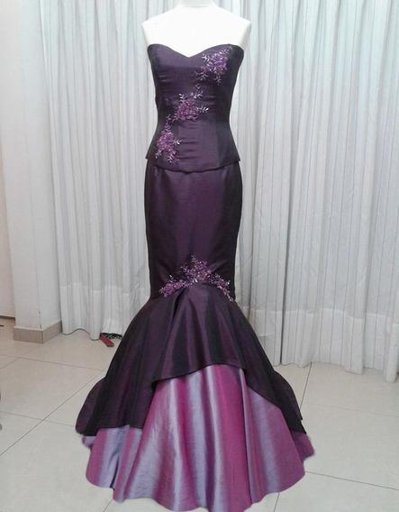 Vestido De Fiesta Bordado , Corset Y Falda