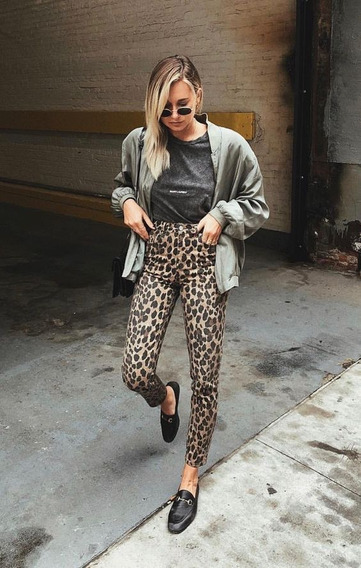 Calça Feminina Sarja Skinny Onça Moda 2019 Instagram Fashion