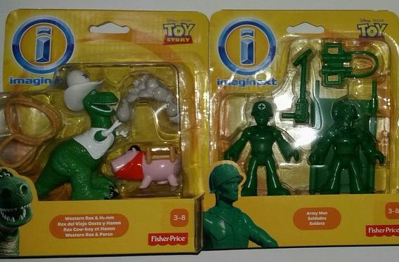 2 Imaginext Toy Story Rex & Hamm + Soldados