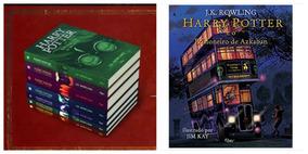 Kit Livros Harry Potter Capa Dura + Azkaban Ilustrado - Novo