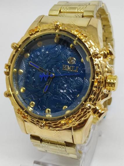 Kit 2x Relógio Emli Robusto Varias Cores Exclusivo + Caixa