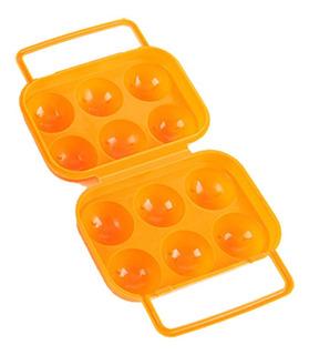 Portátil 6 Huevos Contenedor De Plástico Titular Plegable