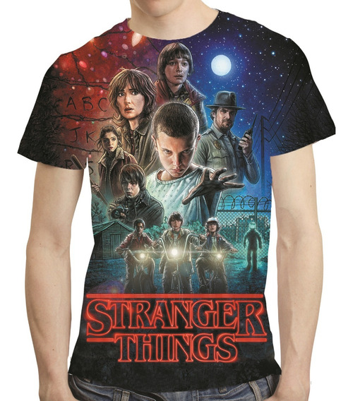 Camisa Série Camiseta Stranger Things - Estampa Total