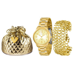 Kit Relógio Lince Feminino - Lrg4262l K073c2kx