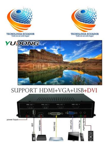 Controlador Video Wall Videowall 2x2 Usb Hdmi Vga Dvi