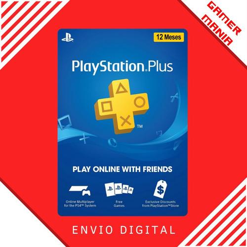 Psn Plus 12 Meses Playstation Br Ps4 Ps3 Brasil